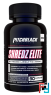 Discontinued - Shredz Elite, PITCHBLACK Supplements, 90 capsules