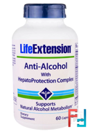 Anti-Alcohol with HepatoProtection Complex, Life Extension, 60 Capsules