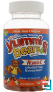 Yummi Bears, Vitamin C, Hero Nutritional Products, 132 Gummy Bears