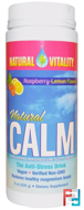 Natural Calm, The Anti-Stress Drink, Organic Raspberry-Lemon Flavor, Natural Vitality, 8 oz (226 g)