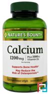 Calcium Plus Vitamin D3, 1200 mg/1000 IU, Nature's Bounty, 120 Rapid Release Softgels