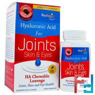 Hyaluronic Acid For Joints, Skin & Eyes, Mixed Berry Flavor, Hyalogic LLC, 60 HA Chewable Lozenges