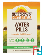 Water Pills, Sundown Naturals, 60 Tablets