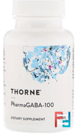 PharmaGABA-100, Thorne Research, 60 Vegetarian Capsules