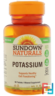 Multi-Source Potassium, Sundown Naturals, 90 Tablets
