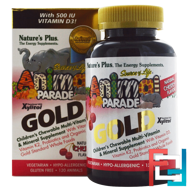 Source of Life Animal Parade Gold, Children's Chewable Multi-Vitamin & Mineral Supplement, Natural Cherry Flavor, Nature's Plus, 120 Animals