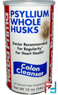 Psyllium Whole Husks, Colon Cleanser, Yerba Prima, 12 oz (340 g)