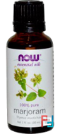 Essential Oils, Marjoram Oil, Now Foods, 30 ml