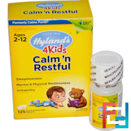 Calm' n Restful 4 Kids, Hyland's, 125 Quick-Dissolving Tablets