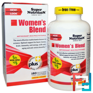 Women's Blend, Iron Free, Super Nutrition, 180 Tabs