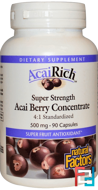 AcaiRich, Acai Berry Concentrate, Natural Factors, 500 mg, 90 Capsules