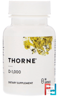 D-1,000, Thorne Research, 90 Vegetarian Capsules
