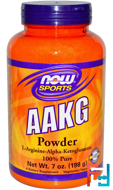 AAKG Powder, Now Foods, 4.2 g, 198 g