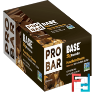 20 g Protein Bar, Peanut Butter Chocolate, ProBar, Base, 12 Bars, 2.46 oz (70 g) Each