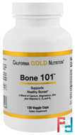 Targeted Support, Bone 101, California Gold Nutrition, CGN, 120 Veggie Capsules