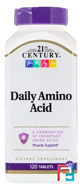 Daily Amino Acid, Maximum Strength, 21st Century, 120 Tablets