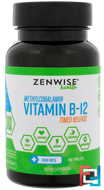 Vitamin B12, Timed Release Formula, Zenwise Health, 160 Tablets