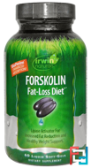 Forskolin, Fat-Loss Diet, Irwin Naturals, 60 Liquid Soft-Gels