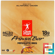 Primal Bar, Chicken with Mesquite BBQ Flavor, Caveman Foods, 12 Bars, 1.5 oz (42 g) Each