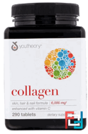 Collagen, Youtheory, 6000 mg, 290 tablets