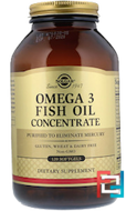 Omega-3 Fish Oil Concentrate, Solgar, 120 Softgels
