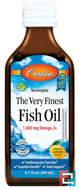 The Very Finest Fish Oil, Norwegian, Lemon, Carlson Labs, 6.7 fl oz (200 ml)