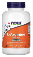 L-Arginine, Now Foods, 500 mg, 250 capsules