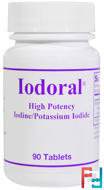 Iodoral, Iodine/Potassium Iodide, Optimox Corporation, 90 Tablets