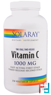 Vitamin C, Two-Stage Timed-Release, Solaray, 1,000 mg, 250 Vegetarian Capsules