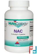 NAC, N-Acetyl-L-Cysteine, Nutricology, 500 mg, 120 Tablets