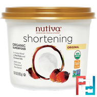Organic Shortening, Original, Red Palm and Coconut Oils, Nutiva, 15 oz (425 g)