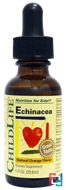 Echinacea, Natural Orange Flavor, ChildLife,1 fl oz, 29.6 ml