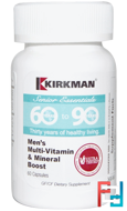Senior Essentials 60 to 90 Years, Men's Multi-Vitamin & Mineral Boost, Kirkman Labs, 60 Capsules