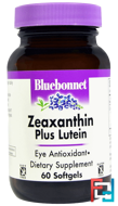 Zeaxanthin Plus Lutein, Bluebonnet Nutrition, 60 Softgels