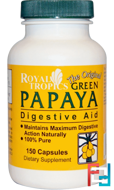 The Original Green Papaya, Digestive Aid, Royal Tropics, 150 Capsules