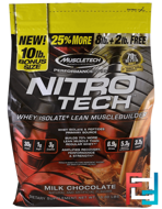 Performance Series, Nitro-Tech, Whey Isolate + Lean Musclebuilder, Milk Chocolate, Muscletech, 10 lbs (4.54 kg)