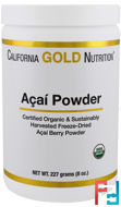 Organic Acai Powder, California Gold Nutrition, CGN, 8 oz, 227 g