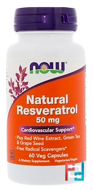Natural Resveratrol, Now Foods, 50 mg, 60 Veg Capsules
