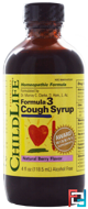 Formula 3, Cough Syrup, Natural Berry Flavor, ChildLife, 4 fl oz (118.5 ml)