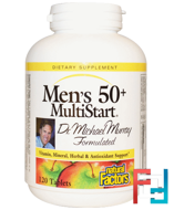Men's 50+ MultiStart, Natural Factors, 120 Tablets