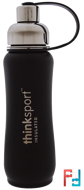 Thinksport, Insulated Sports Bottle, Black, Think, 17 oz (500 ml)