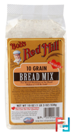 10 Grain, Bread Mix, Bob's Red Mill, 19 oz (538 g)