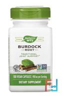 Burdock Root, Nature's Way, 950 mg, 100 Vegan Capsules
