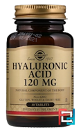Hyaluronic Acid, Solgar, 120 mg, 30 Tablets