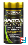 Rapidcuts Shredded With Ashwagandha, ALLMAX Nutrition, 90 Capsules