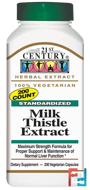 Milk Thistle Extract, 21st Century, 200 Veggie Caps