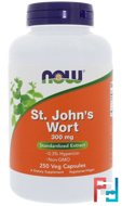St. John's Wort, Now Foods, 300 mg, 250 Veg Capsules