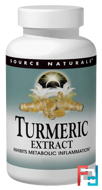 Turmeric Extract, Source Naturals, 100 Tablets