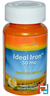 Ideal Iron, Thompson, 50 mg, 60 Tablets