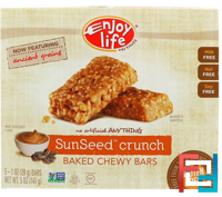 Baked Chewy Bars, SunSeed Crunch, Enjoy Life Foods, 5 Bars, 1 oz (28 g) Each